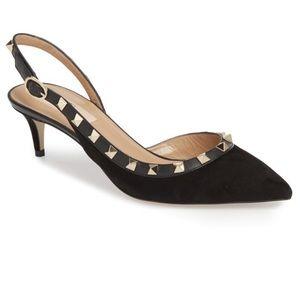 Valentino Garavani Shoes - VALENTINO GARAVANI ROCKSTUD SLINGBACK PUMP